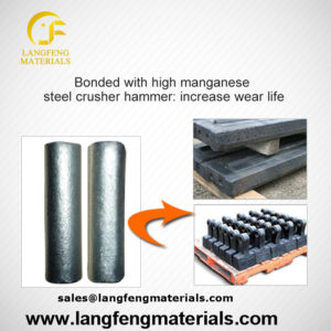 Ferro-TiC alloys for high manganese steel wear parts