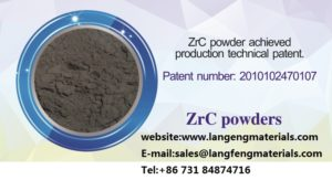 ZrC Zirconium carbide powder application